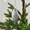 Silver Firecone Decoration