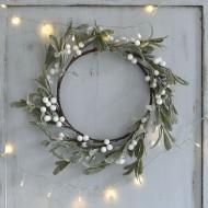Silver Mistletoe Wreath