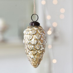 Gold Fir Cone Decoration