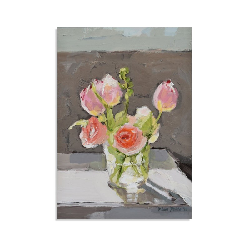 Flowers In A Glass, card