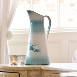 Vintage French Enamel Jug