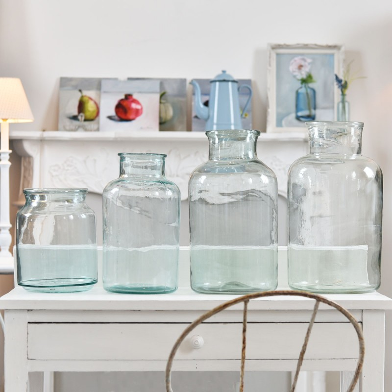 Vintage Recycled Glass Jars