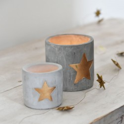 Cement Star Pots
