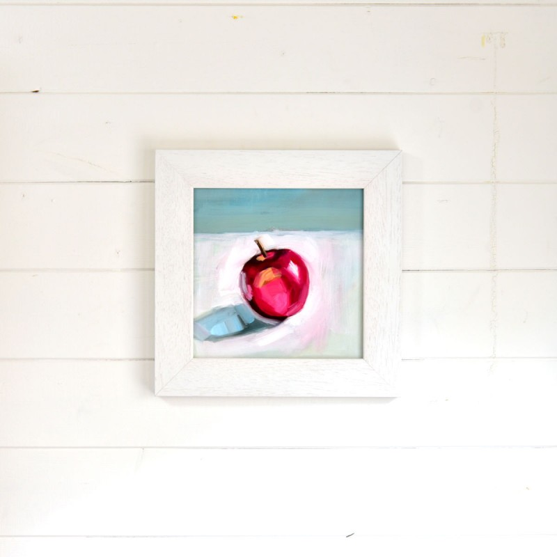 Painting By Piers Philo, Red Apple