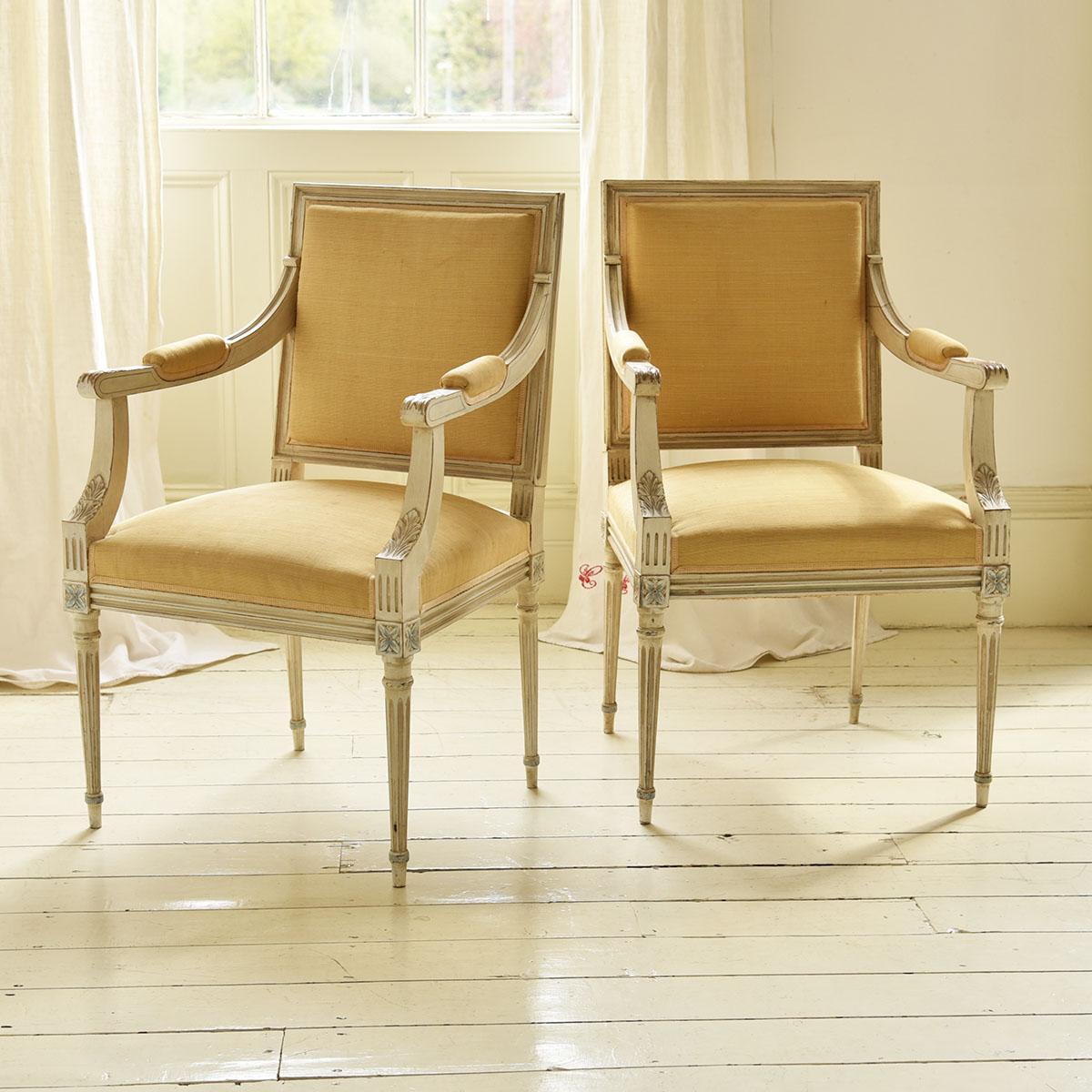 Pair of Gustavian chairs