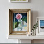 I'm in love with with this little painting. The colours, the softness, the subject, the frame...✔️👌🏻. . . . . #artistsofinstagram #paintingsofroses #artist #art #floralart #originalart #painter #artforsale #countryliving #countryhousestyle #countryhouseinteriors #decorativeantiques #countrybrocantestyle #decorativeliving #roses